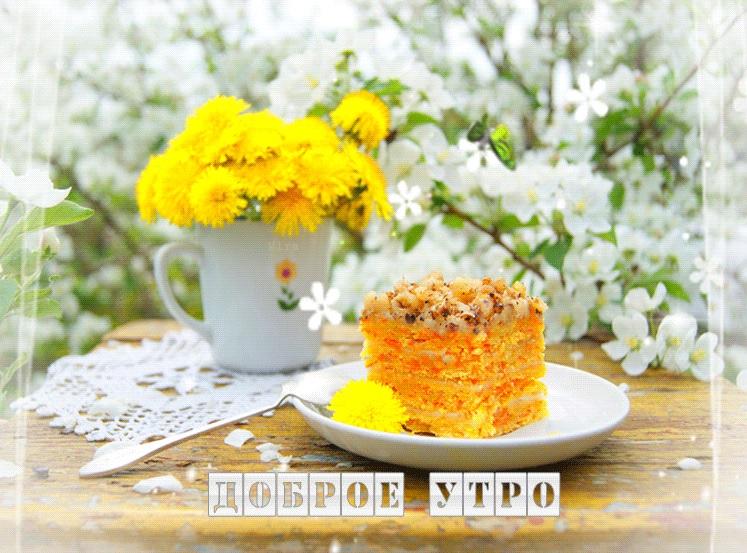 Красивые картинки С добрым утром, весна - приятные открытки 8
