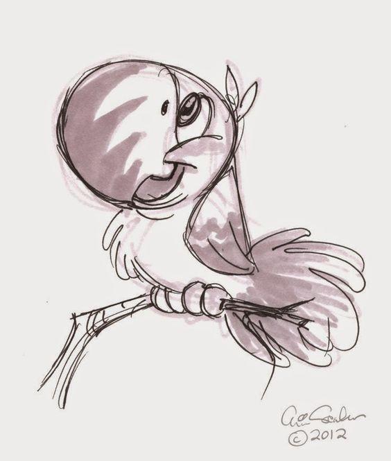 Красивые мультяшные картинки, рисунки для срисовки - подборка 4