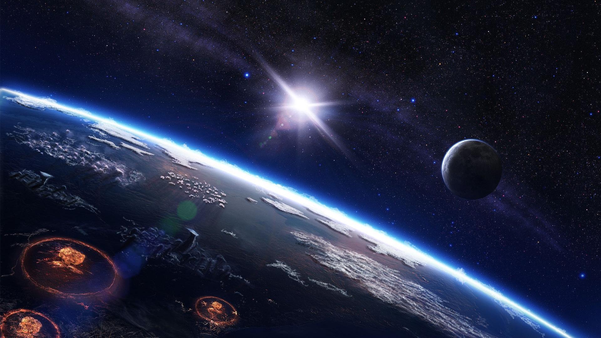 Красивые обои планет, космоса, галактик на рабочий стол - подборка 12