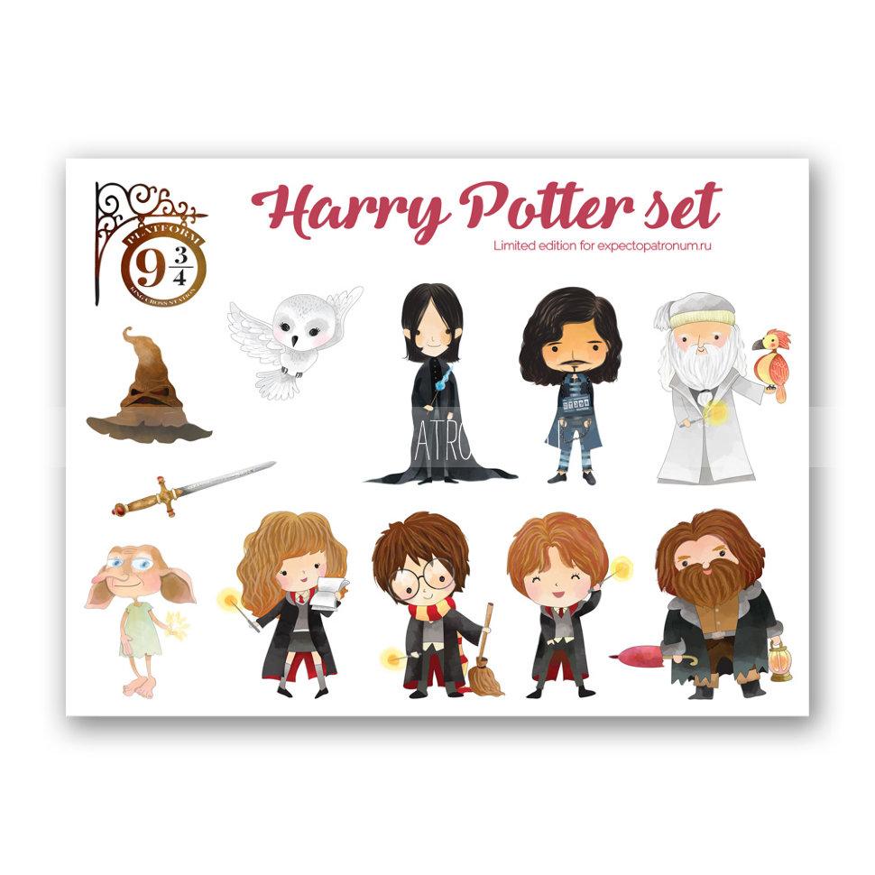 Красивые стикеры и наклейки Гарри Поттер - коллекция 46 картинок 1