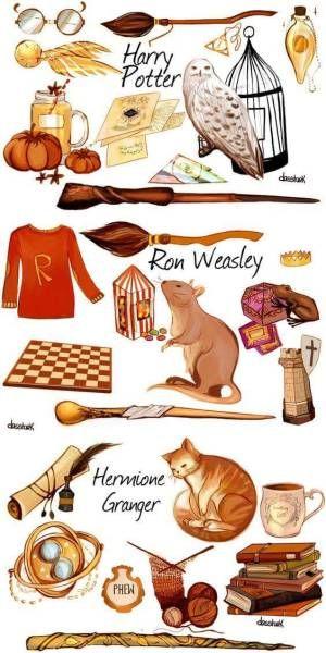 Красивые стикеры и наклейки Гарри Поттер - коллекция 46 картинок 40