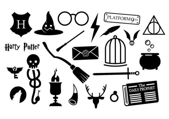 Красивые стикеры и наклейки Гарри Поттер - коллекция 46 картинок 7