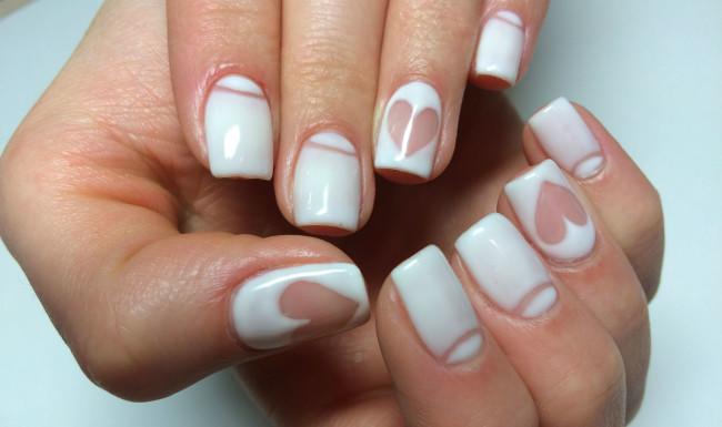 Красивые фото дизайна белых ногтей - подборка 25 картинок 10