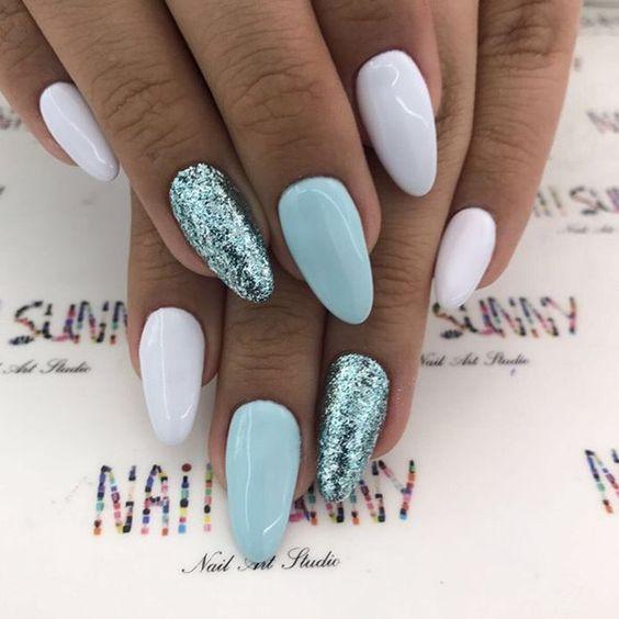 Красивые фото дизайна белых ногтей - подборка 25 картинок 18