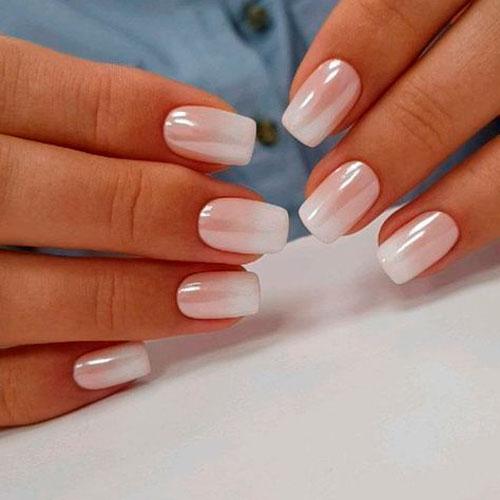 Красивые фото дизайна белых ногтей - подборка 25 картинок 19