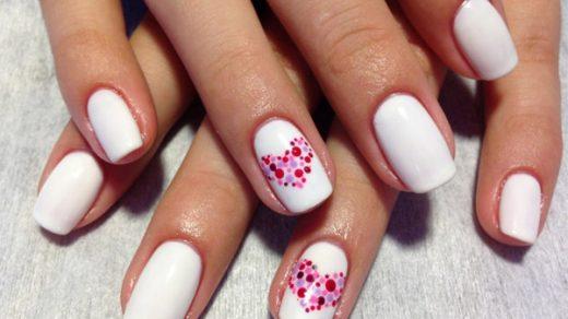 Красивые фото дизайна белых ногтей - подборка 25 картинок 23