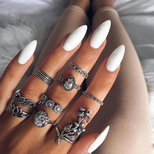 Красивые фото дизайна белых ногтей - подборка 25 картинок 25