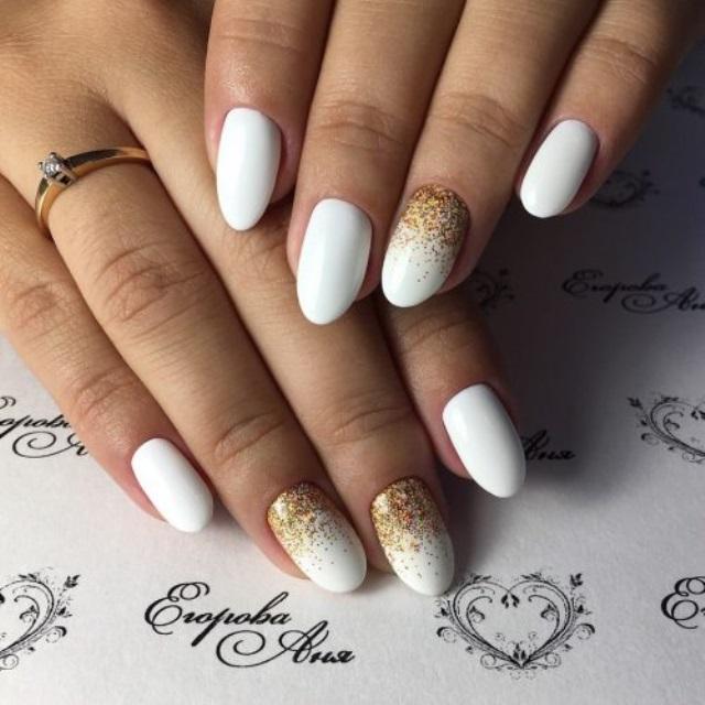 Красивые фото дизайна белых ногтей - подборка 25 картинок 4