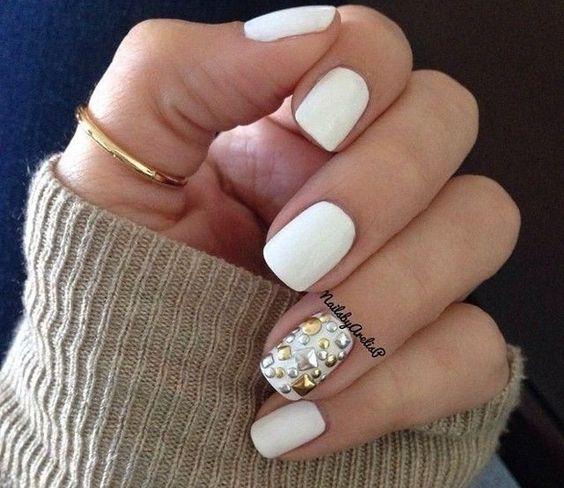 Красивые фото дизайна белых ногтей - подборка 25 картинок 5