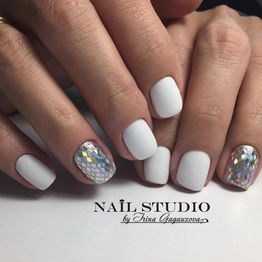 Красивые фото дизайна белых ногтей - подборка 25 картинок 9