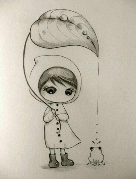 Необычные черно-белые картинки, рисунки для срисовки - сборка 18