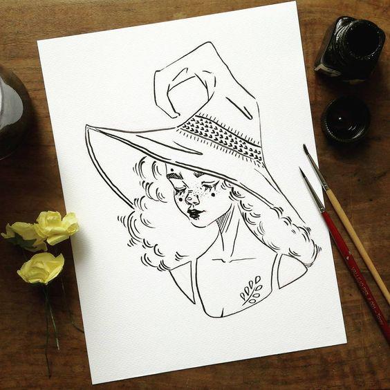 Необычные черно-белые картинки, рисунки для срисовки - сборка 2