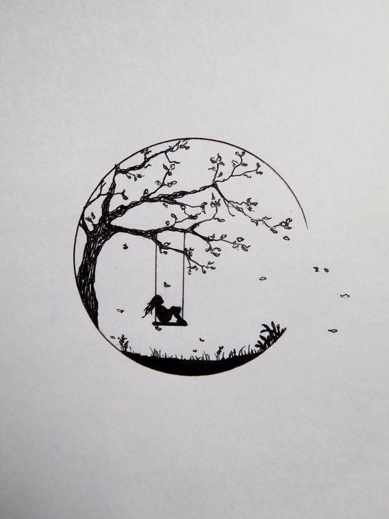 Необычные черно-белые картинки, рисунки для срисовки - сборка 4