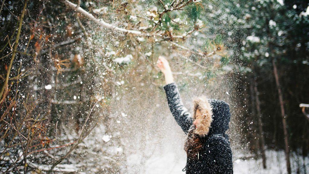 Падающий снег - красивые картинки и обои на рабочий стол 11