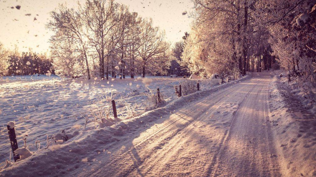 Падающий снег - красивые картинки и обои на рабочий стол 15