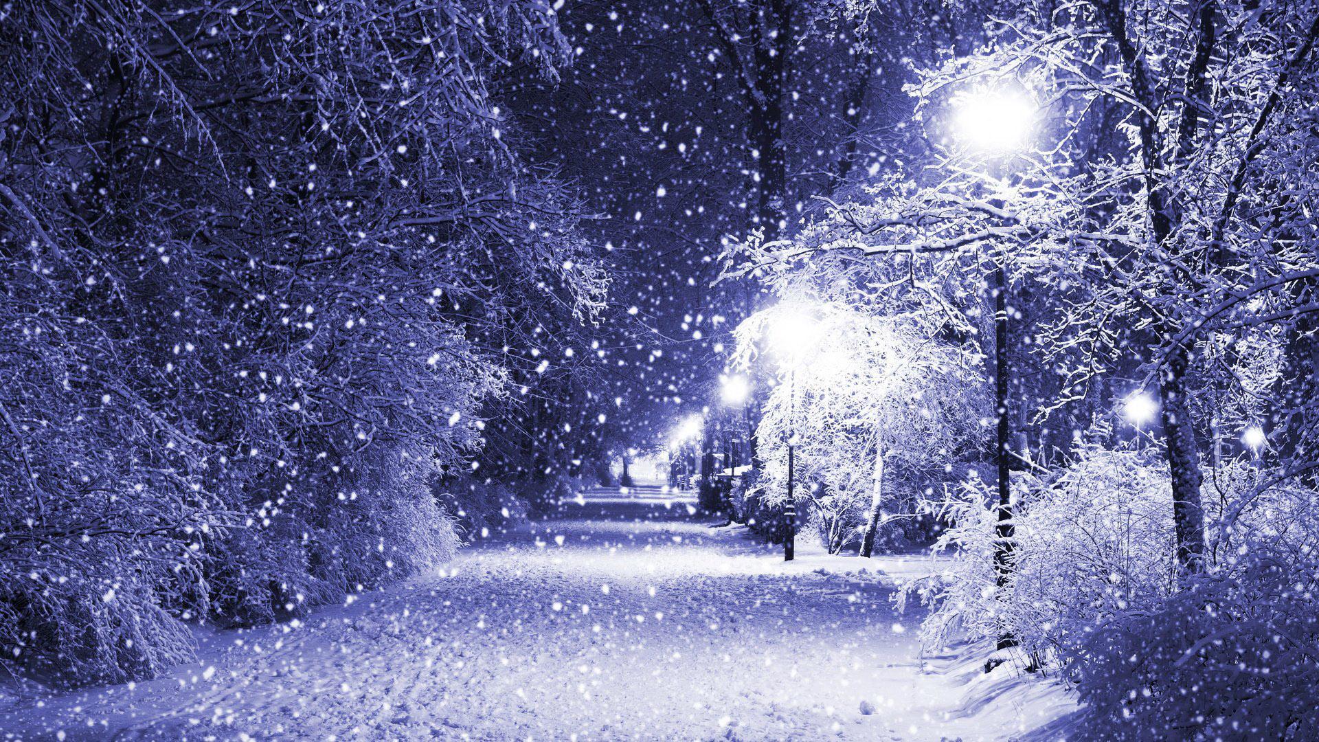Падающий снег - красивые картинки и обои на рабочий стол 16