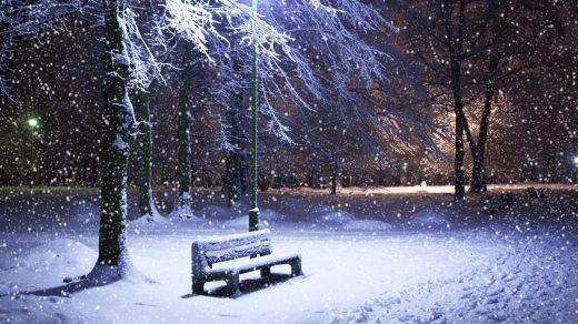 Падающий снег - красивые картинки и обои на рабочий стол 17