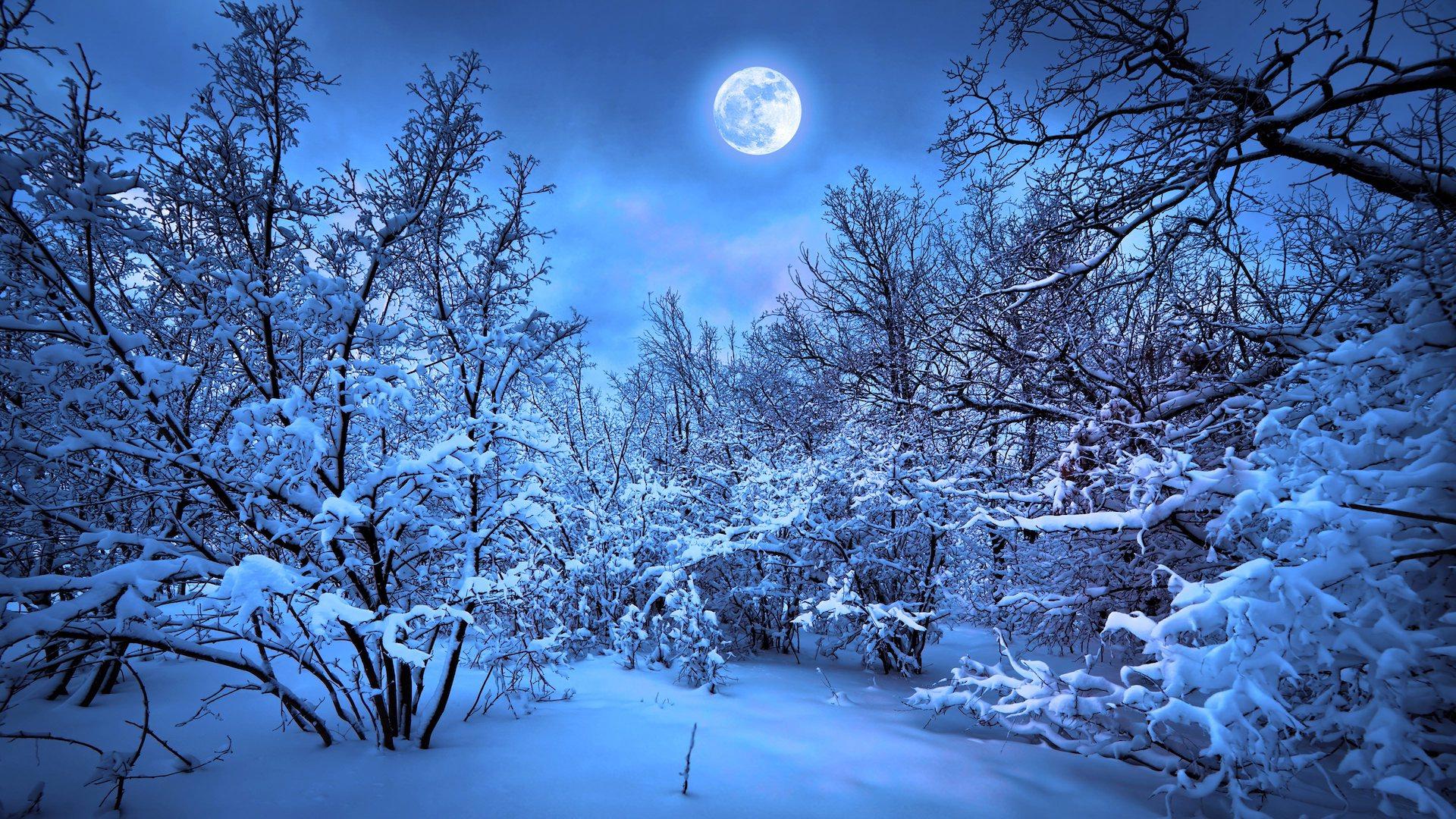 Падающий снег - красивые картинки и обои на рабочий стол 2