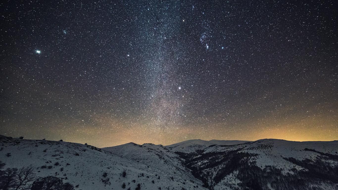 Падающий снег - красивые картинки и обои на рабочий стол 3