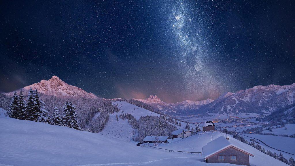 Падающий снег - красивые картинки и обои на рабочий стол 5
