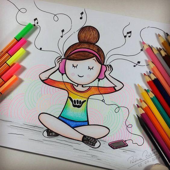 Прикольные и красивенькие рисунки для срисовки детям - подборка 14