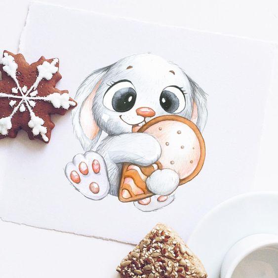 Прикольные и красивенькие рисунки для срисовки детям - подборка 2