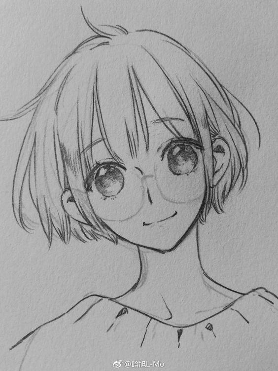 Прикольные и красивые аниме рисунки, картинки для срисовки 5
