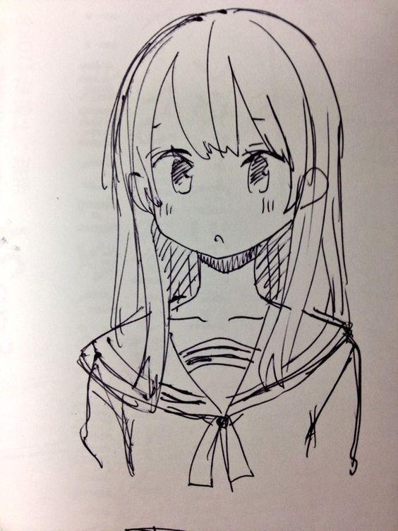 Прикольные и красивые аниме рисунки, картинки для срисовки 9