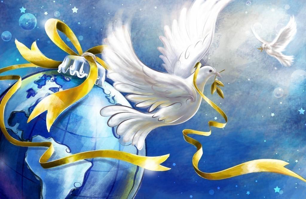 Прикольные и красивые картинки Голубь мира - подборка 9