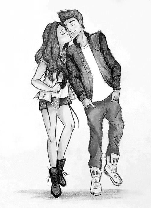 Прикольные картинки для срисовки парень и девушка - сборка 8