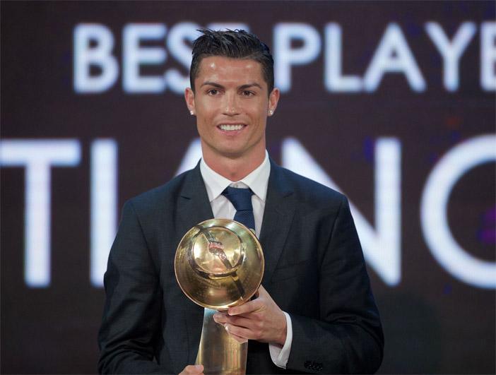 Роналду стал лучшим футболистом года по версии Globe Soccer Awards 1