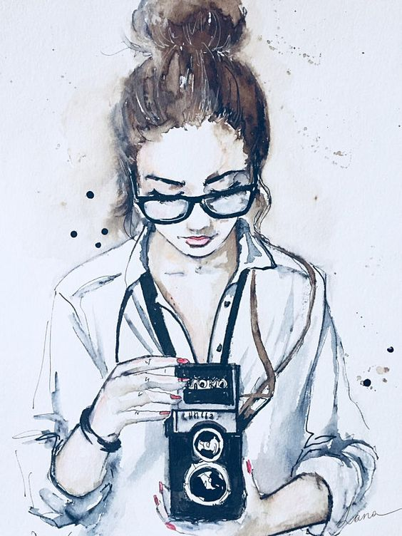 Самые красивые нарисованные арт картинки девушек - сборка 25 фото 22