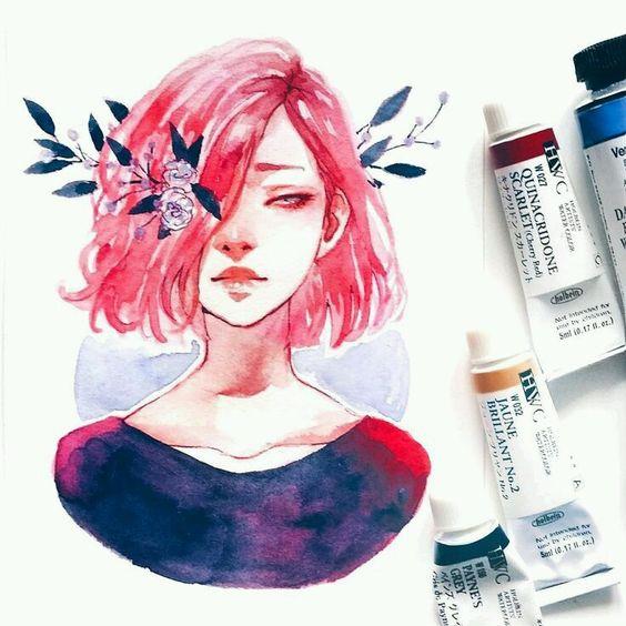 Самые красивые нарисованные арт картинки девушек - сборка 25 фото 27