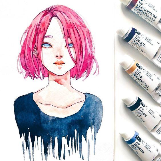 Самые красивые нарисованные арт картинки девушек - сборка 25 фото 5
