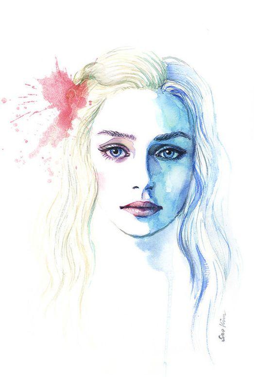 Самые красивые нарисованные арт картинки девушек - сборка 25 фото 6