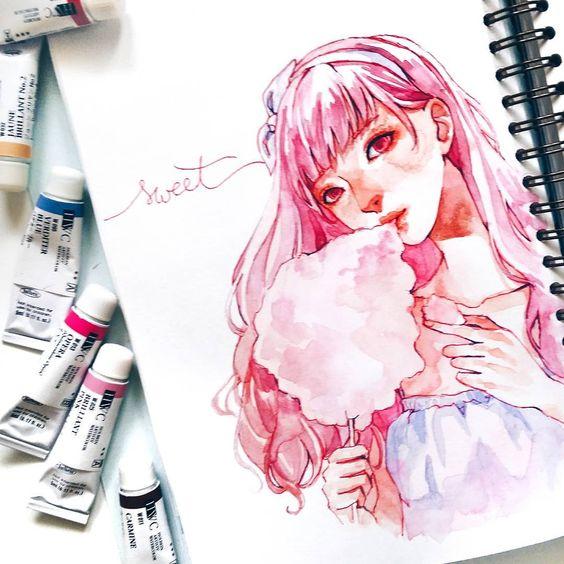 Самые красивые нарисованные арт картинки девушек - сборка 25 фото 7