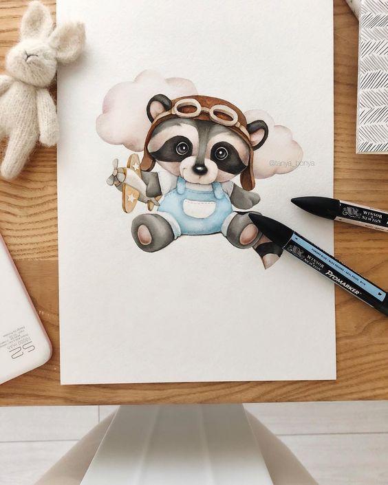 Самые красивые нарисованные рисунки животных - 25 картинок 7