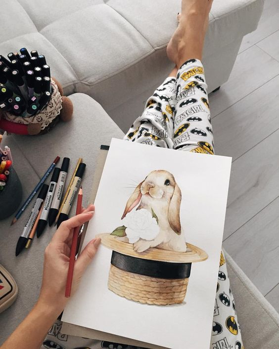Самые красивые нарисованные рисунки животных - 25 картинок 8