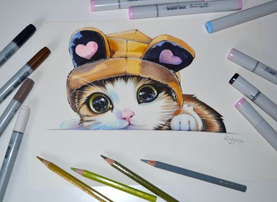 Самые красивые нарисованные рисунки животных - 25 картинок 9