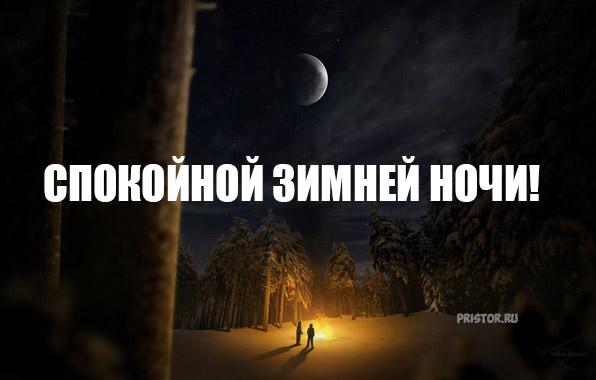 Спокойной зимней ночи - красивые картинки и открытки 6