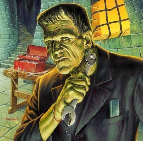 Классные и крутые картинки, арты, фото Франкенштейна - подборка 7