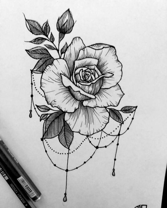 Классные картинки для срисовки тату и татуировки - подборка 11