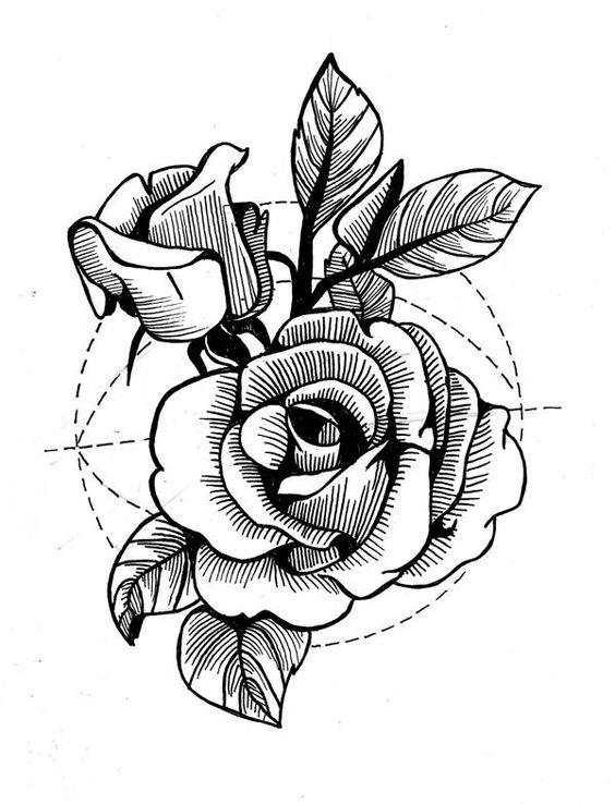 Классные картинки для срисовки тату и татуировки - подборка 21