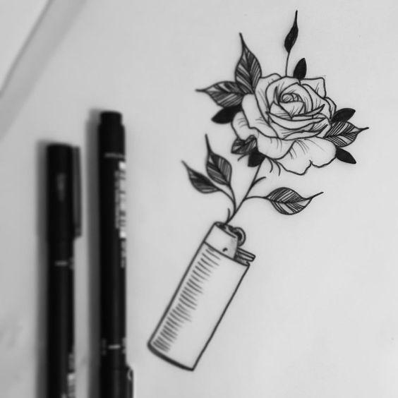 Классные картинки для срисовки тату и татуировки - подборка 23