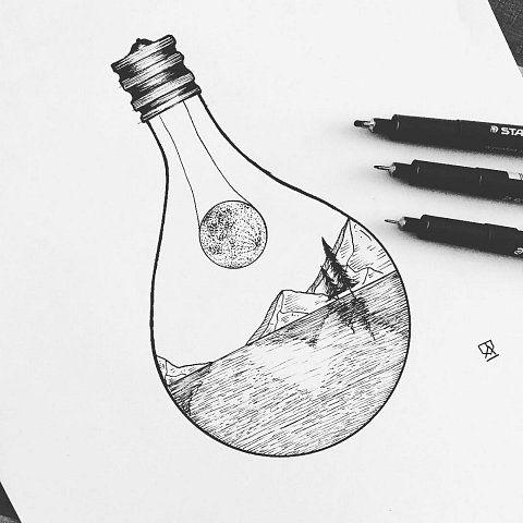 Классные картинки для срисовки тату и татуировки - подборка 6