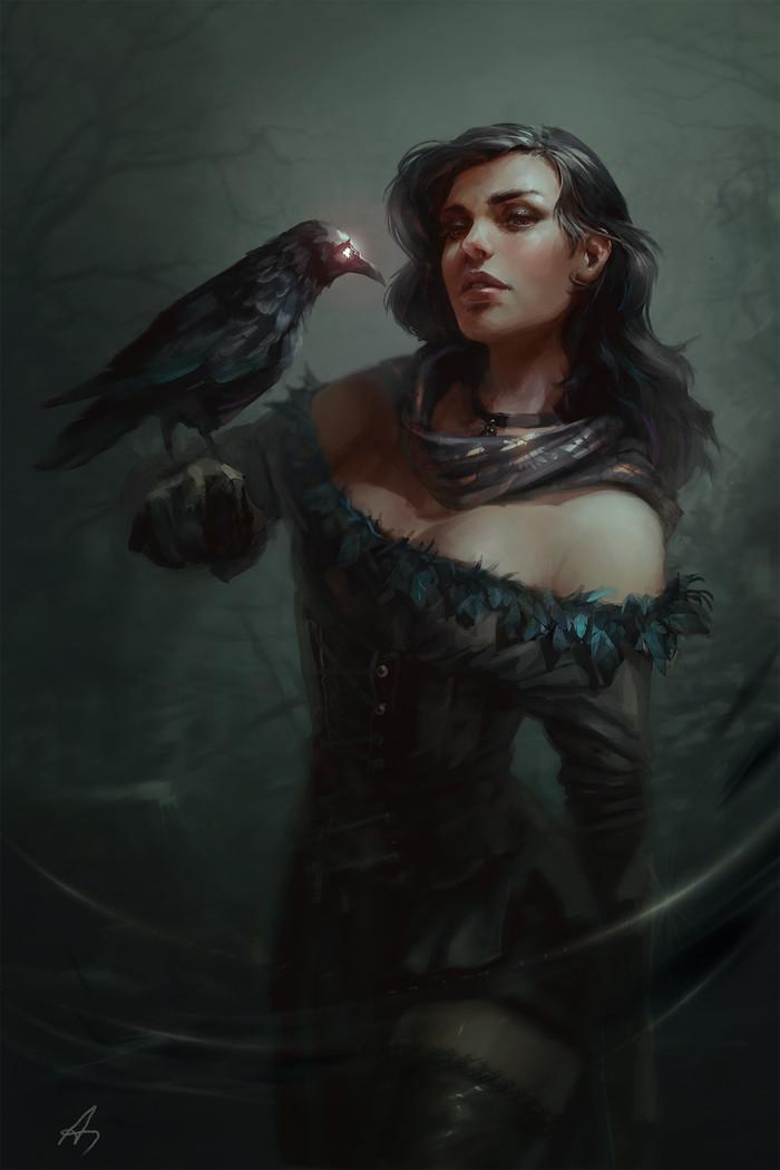 Красивые картинки, арт Йеннифэр из Венгерберга The Witcher 3 Wild Hunt 13