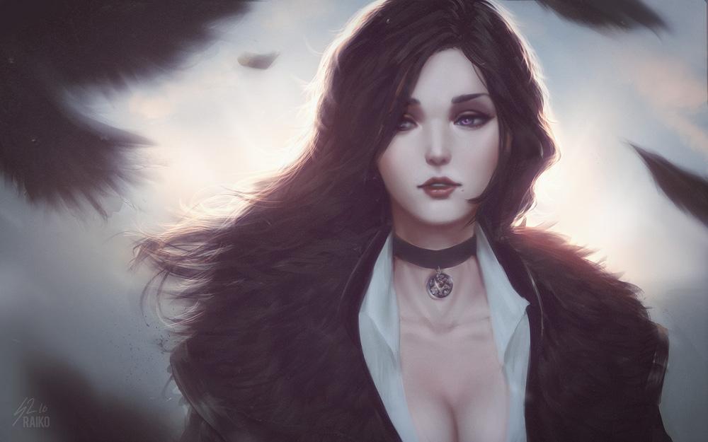 Красивые картинки, арт Йеннифэр из Венгерберга The Witcher 3 Wild Hunt 6