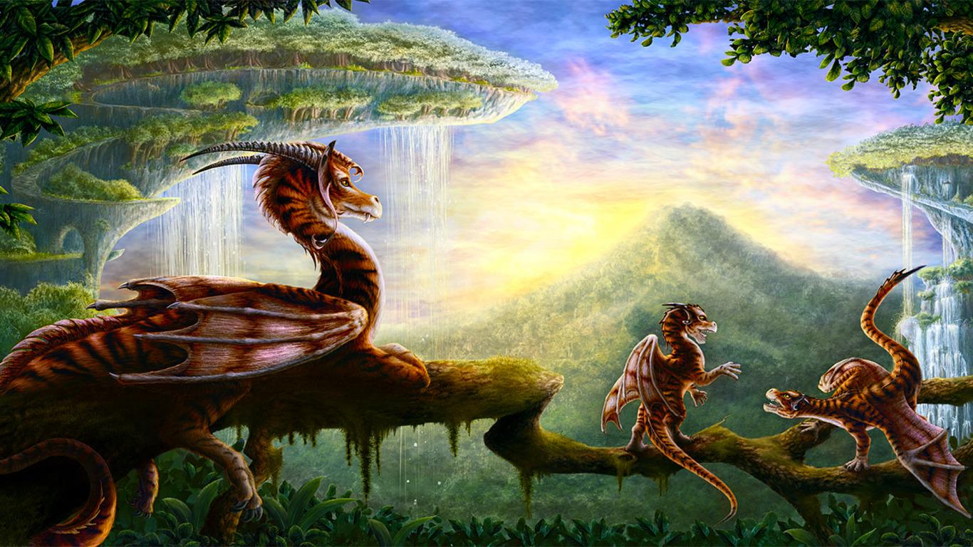 Красивые обои и картинки драконов для рабочего стола - подборка 19