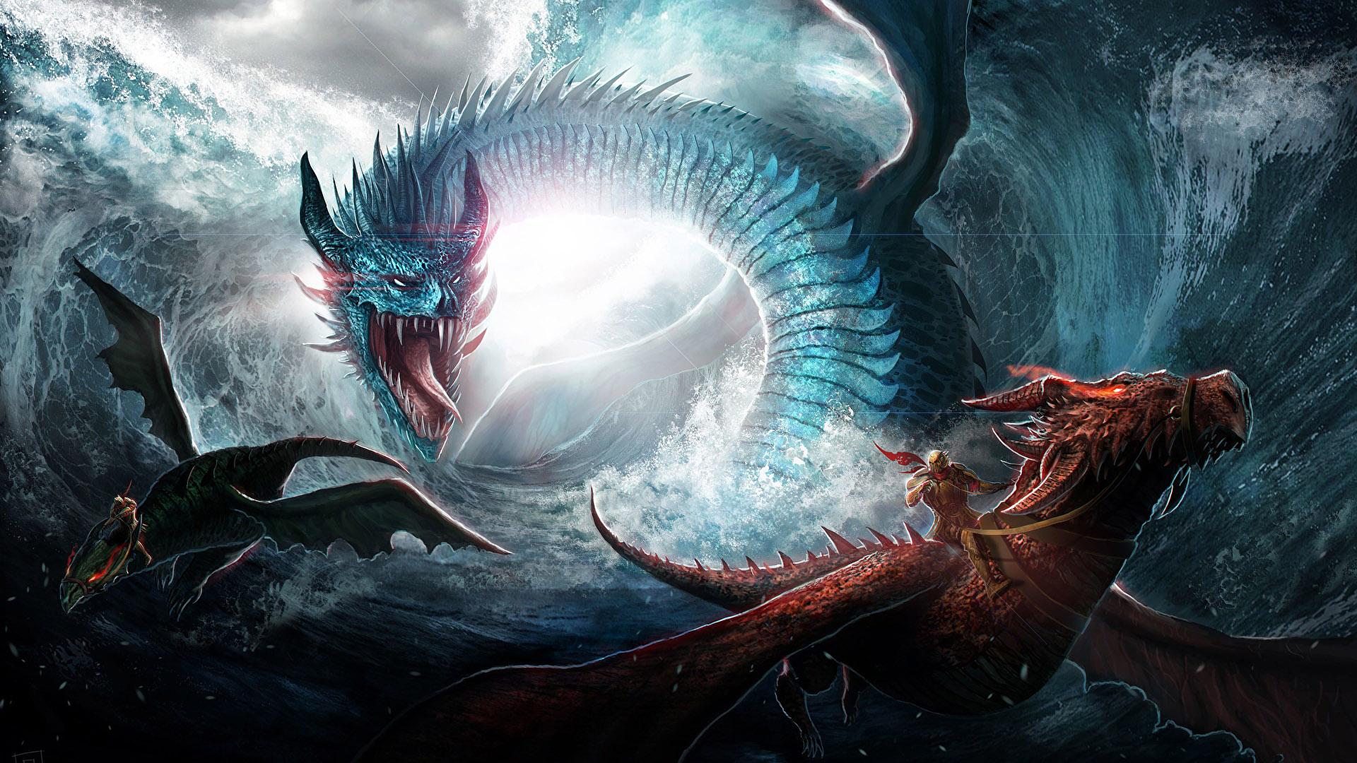 Красивые обои и картинки драконов для рабочего стола - подборка 4