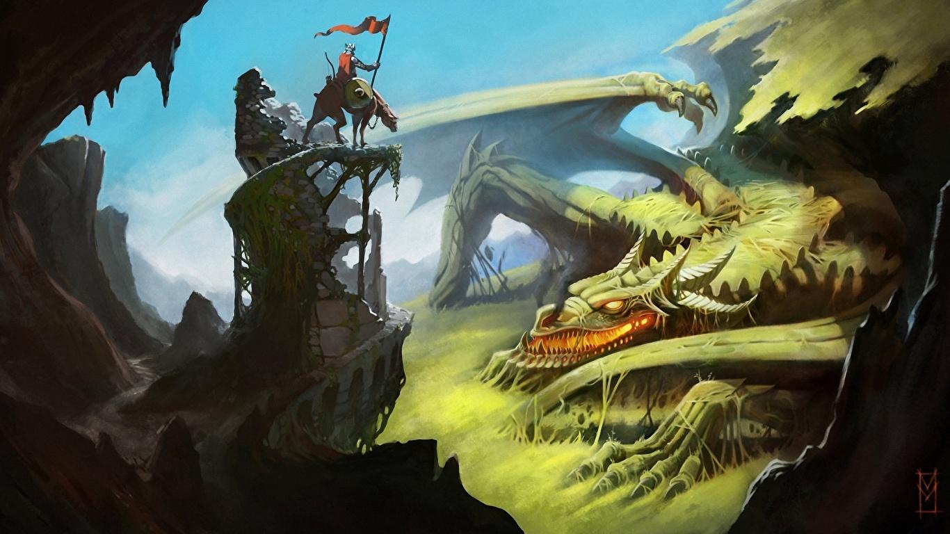 Красивые обои и картинки драконов для рабочего стола - подборка 8